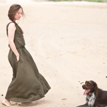 IVY-sukienka boho khaki 1 fot. Agnieszka Szczepaniak